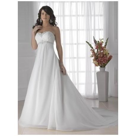 Svatební šaty A-Line bez ramínek na míru