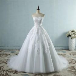 luxusní svatební šaty s bohatou tylovou sukní Greta XS-S