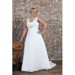 bílé jednoduché antické svatebení šaty Vivian XXL-XXXL
