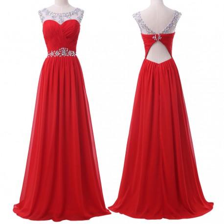 95c20438353c luxusní plesové dlouhé červené šaty na ramínka Fatty M - Hollywood ...