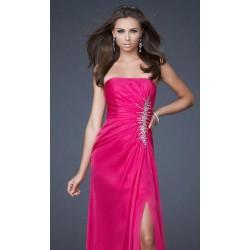 Luxusní společenské růžové šaty na míru
