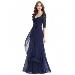 dlouhé tmavě modré plesové šaty pro matku nevěsty L
