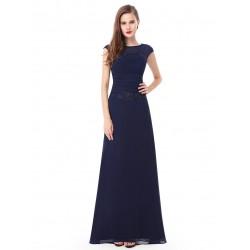 dlouhé tmavě modré společenské šaty pro matku nevěsty XXL