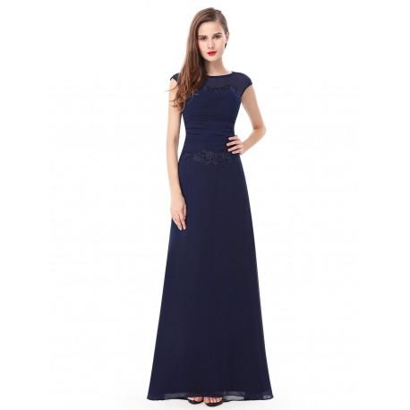 9b29380a4e66 dlouhé tmavě modré společenské šaty pro matku nevěsty XXL ...