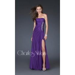společenské šaty na maturitní ples Dita 19 fialové