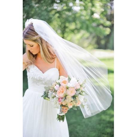 jednoduchý hladký tylový svatební závoj - výběr barev