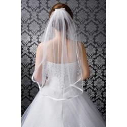 jednoduchý jednovrstvý tylový svatební závoj
