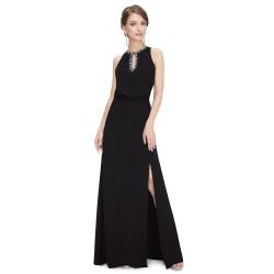 jednoduché dlouhé černé společenské šaty Alison L-XL