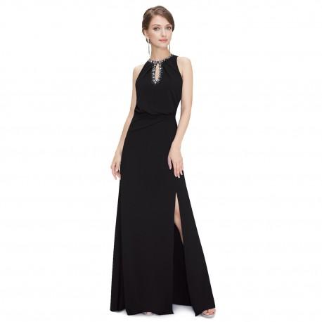 5c4d3603ef5 jednoduché dlouhé černé společenské šaty Alison L-XL