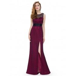 dlouhé vínové červené elegantní společenské šaty Lydia M