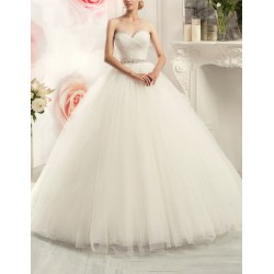 princeznovské tylové bílé svatební šaty s bohatou sukní Alyce L-XL