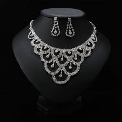 štrasová souprava - náhrdelník a náušnice Alyce