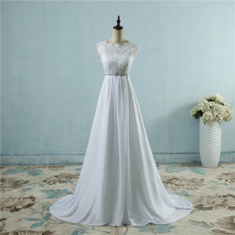 jemné šifónové svatební šaty s krajkovým živůtkem Felicia S-M