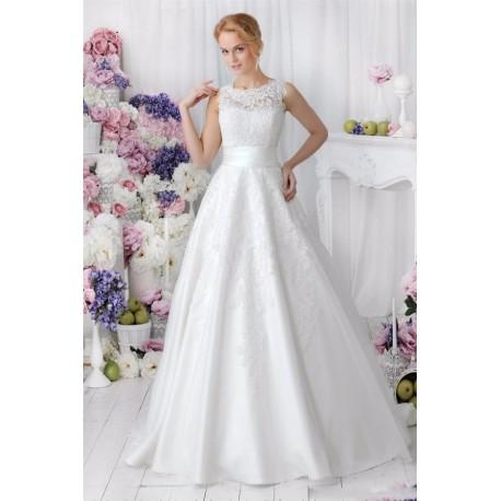 princeznovské svatební šaty s krajkovými aplikacemi Lucia S - odepínací  sukně 60584b4823