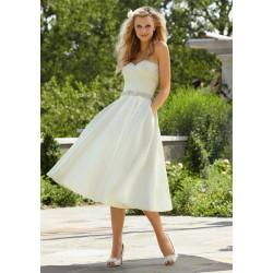 krátké bílé svatební šaty s kapsami Miranda S-M