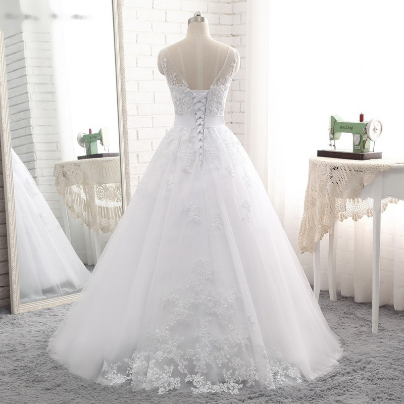 1f88fce798f ... luxusní bílé princeznovské svatební šaty Anna Marie S-M ...