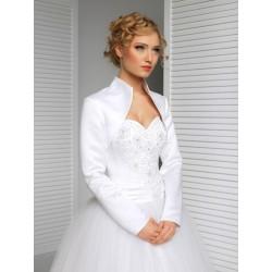 bílé saténové svatební šaty - velikost M-L