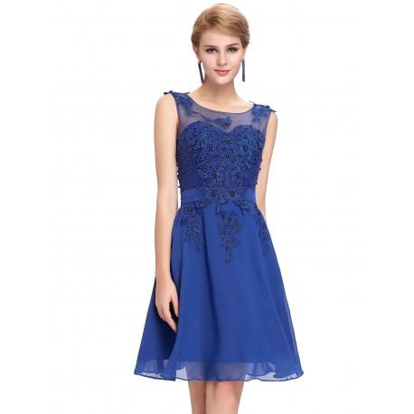 5c3f7f898 krátké modré společenské šaty Andromeda XS - Hollywood Style E-Shop ...
