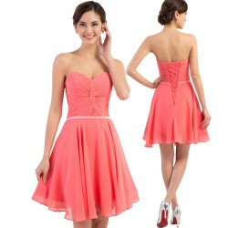 krátké lososové společenské šaty do tanečních XS-S