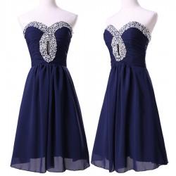 krátké tmavě modré společenské šaty do tanečních Alona XS-S