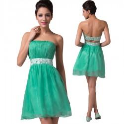 krátké zelené společenské šaty do tanečních XS-S