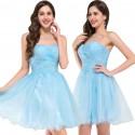 krátké světle modré společenské šaty do tanečních Wanda XS-S