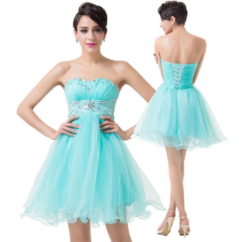 ... krátké tyrkysové plesové šaty do tanečních Serena XS-S ... 60e4ce8b944