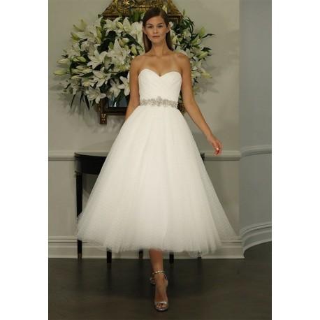 krátké bílé tylové svatební šaty retro Alycia S-M - Hollywood Style ... 2646be9628