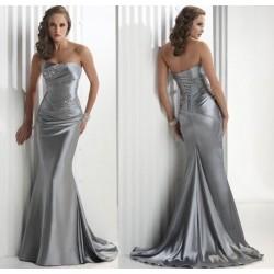 společenské šaty na maturitní ples Dita 20 stříbrné