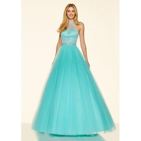 světle modré plesové šaty na maturitní ples Devona XS-S