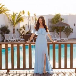 světle modré společenské šaty boho Dionisa S