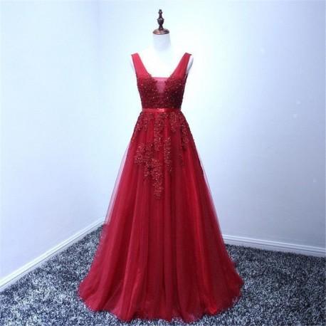červené vínové plesové šaty na maturitní ples Andromeda L ... ed457acc993