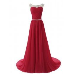 červenéplesové šaty na ramínka Agatha L-XL