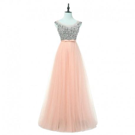 Tylové růžové plesové šaty na maturitní ples XL 0ee26479a8
