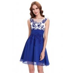 krátké modré společenské šaty do tanečních Simona XS