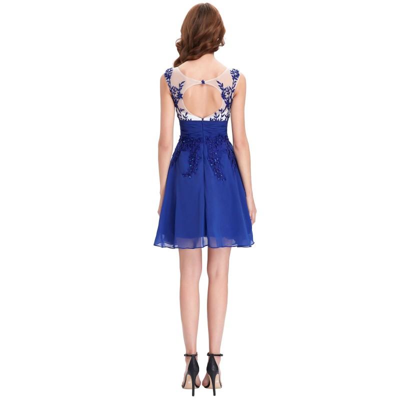 krátké modré společenské šaty do tanečních Simona XS - Hollywood ... 926e03ea29