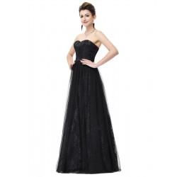 jednoduché dlouhé černé gothic šaty Linda XS
