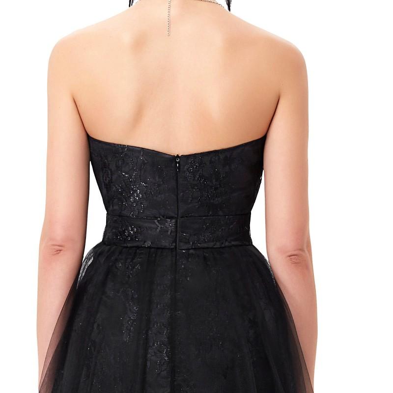 8163b64f43c ... jednoduché dlouhé černé gothic šaty Linda XS