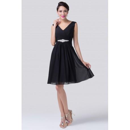 krátké černé společenské šaty Eva XXL