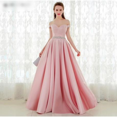 světle růžové plesové maturitní šaty saténové Dona S