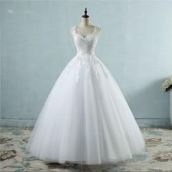 ea7f1cef83f3 luxusní tylové bílé svatební šaty Valérie XL-XXL