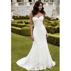 krémové krajkové svatební šaty Mina S-M