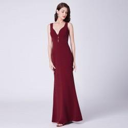 sexy tmavě červené vínové společenské šaty  Rita S