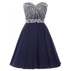 krátké plesové tmavě modré šaty Tina XS-S
