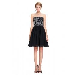 krátké černé společenské šaty do tanečních Wanda XS-S