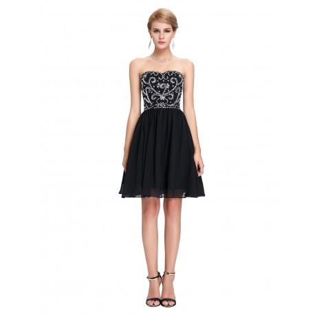 65bf6dfef2f6 Krátké černé společenské šaty do tanečních nebo na ples