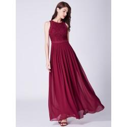 dlouhé vínové společesnké šaty na ramínka M-L