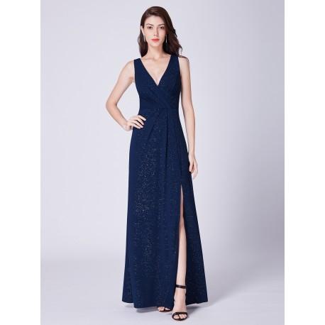 dlouhé tmavě modré společenské šaty Anastasia M-L