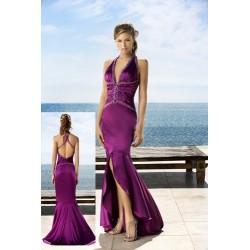 Krásné fialové plesové šaty na míru