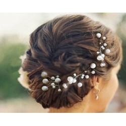 překrásné svatební perličkové pinetky do společenského účesu - černá pinetka - pro tmavé vlasy